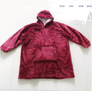 Outdoor Kapuzenpulli Hoodie warme Mäntel neigen Hoodie Bathrobe Pullover Wollpullover-Decke für Männer und Frauen