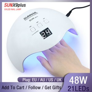 SUN Lamp Nail SUN X9 48W UV Lamp LED Ice Lamp Nail Gel Polish Dryer Manicure Drying Machine For All Gel Nails Art Curing Lamps CY200513