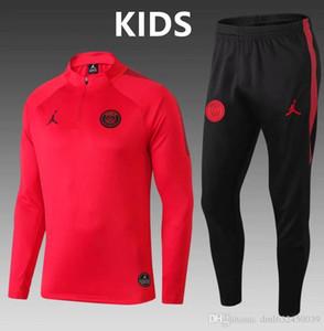 TOP2018 2019Paris chaquetas niños de fútbol PSG uniformes de deportes de los chándales 18 traje de fútbol Mbappe de conferencias Paris