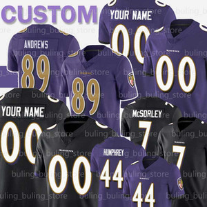 J. K. personalizada Dobbins 20 Ed Reed Jersey 52 Ray Lewis 89 Mark Andrews Jonathan Ogden 54 Tyus Bowser Marcus Peters fútbol jerseys