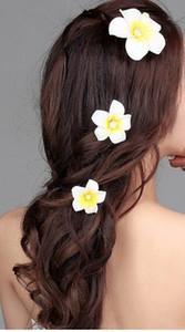 """الجملة النساء الفتيات 2.36 """"هاواي هاواي بوهيميا نمط plumeria رغوة زهرة مقاطع الشعر زخرفة الشعر باريت دبوس ل الزفاف weddin"""