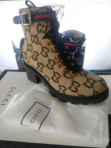 Шерсть голеностопного Загрузочный Ebony Женщины Boots Lug Soled Heeled пинетки Шнуровка ушки женщин Сапоги зимние моды сапоги обувь 11hun (с коробкой)