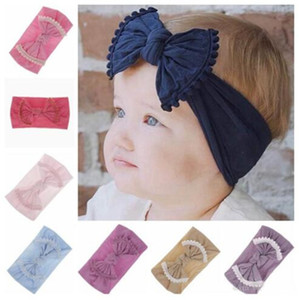 Bambino Hairband della caramella di modo di colore dei capelli della fascia di colore puro Kid Ball Decorazione di accessori per capelli 21 Designs WY546Q-1
