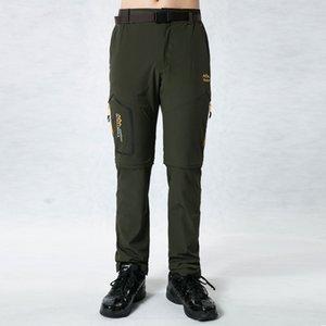 Grande taille S ~ 6XL extérieur hommes d'été Quick Dry Pantalon stretch Homme amovible Short Randonnée Camping Trekking Pêche Sport pantalons