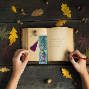 5D Diamond Painting Leather Bookmarks DIY Kit Special Shaped Diamond Embroidery Bookmarks Making Kit DIY Craft