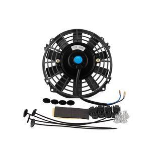 7-дюймовый 12V 80W Автомобильный тонкий радиатор охлаждения Термо Электрический вентилятор Монтажный комплект