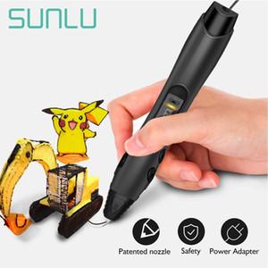Nero caldo di vendita 3D Color Pen set Più nuova penna di stampa Cofanetto regalo migliore per i bambini di età 3D Supporto ABS / PLA filamento Ricariche