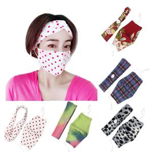 Avrupa ve Amerika Birleşik Devletleri'nin ins rüzgar düğmesi Karşıtı boğma maskesi Tasarımcı Maske takım yoga spor saç bandı yüz maskesi T2I5931