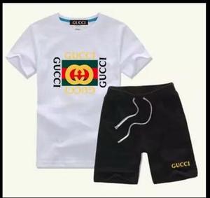 T-shirt infantil nova calções calças meninos camisa de algodão sportswear infantil terno esportivo 2 / conjunto de camiseta de praia de manga curta