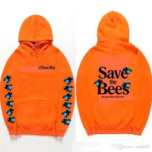 Mens Designer Sweats à capuche Bees impression Pull fleur garçon sweat à capuche Fashion High Street Marque manches longues pour hommes Top Sauvez les abeilles à capuchon
