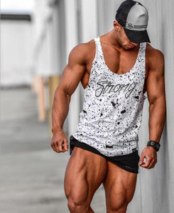 New Mens Bodybuilding Cotton Tanks Top Fitness-Studios Fitness Ärmel Shirt Mann Kleidung Mode Singlet Weste Unterhemd