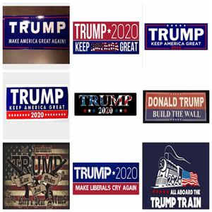 Trump 2020 Car Bumper Stickers locomotive stickers Train window Home Living Room Decor Wall notebook Stickers YYA79