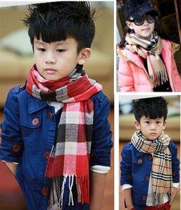Autumn Winter Fashion New Designer Shawl Kids Children Plaid Square Scarf Brand Boys Girls Scarf Children Shawls Wrap