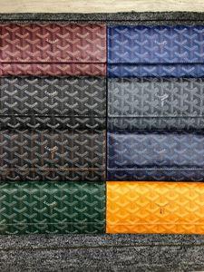 Goyarrd Brand new designer de alta qualidade couro genuíno Goyar preto clássico Portefeuille Carteira clássico GY Clutch Novo na caixa