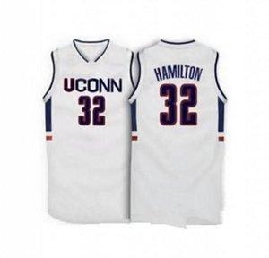 # 32 Richard Hamilton UCONN Connecticut Huskies 1996 Top Maglia da basket Personalizzato qualsiasi numero e nome Maglia XS-6XL maglia Maglie