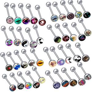 لطيفة نمط هيئة ثقب المجوهرات TONGUE RING MIX Styles انخفاض الشحن سعر المصنع