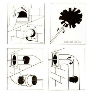 Mit 6 Stangen Trockner Kanal Durable Wasserkocher Nylon Sweep Industrielle Rotary Haus Reinigung Kamin Werkzeug Praktische