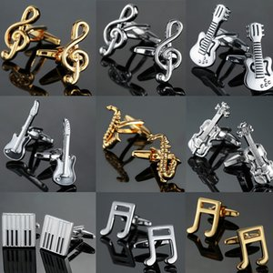 Envío Gratis 19 Diseños Gemelos de Guitarra Diseño de Música Nota Musical Gemelos Piano Bass