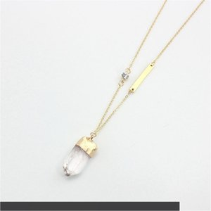 Free shipping the new fashion Natural stone pendant necklace