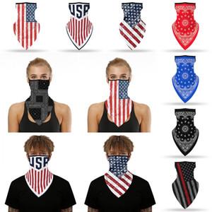 American Flag Fahrrad Bandana Staubdichtes Breathable Gesicht Schals Sommer im Freien Fahrrad Angeln Schal Anti-UV Glatte Maske
