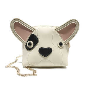 Women Mini Small Pack Shoulder Bag Fashion Lady Cute Dog Chain Messenger Crossbody Bag Clutch Wallet Handbags Sac