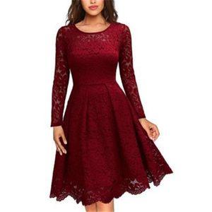 Новые летние женские платья большие качели vestidos сращивания вокруг шеи повседневные платья кружевном платье ну вечеринку халат femme тонкий с длинным рукавом vestidos de verano