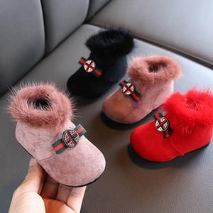 New sapatos de bebé sapatos de bebê sapatas da criança do bebê botas de neve criança de neve botas meninas botas botas de criança de moda A8374 varejo