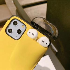 Un gadget de luxe de pièces pour cas d'iphone avec AirPod cas de support pour iPhone 11 pro max Xs max XR 7 plus pour les cadeaux