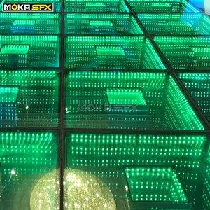 40PCS / الكثير تضيء خشبة المسرح الطابق 3D يجتينج الطابق مرآة للماء لحفل الزفاف المسرح