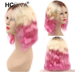 2020 New Colored Human Hair Wig 1B 613 Red BoB Lace Front Wigs Natural Wave Lace Front Wig 13*4 Brazilian Remy Human Hair Wig For Women