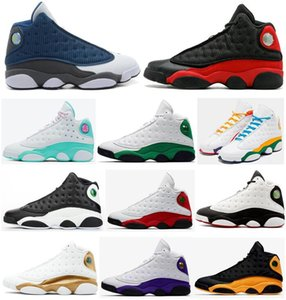 New 13 Flint Bred Chicago chanceux Vert Aurora Vert Playground Hommes Chaussures de basket-ball 13s inverse Il Got Game Melo DMP Sneakers ETUI