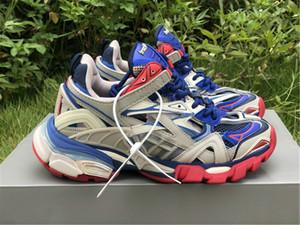 Nova versão Track.2 sapatilha de luxo desajeitado Sapatos mulheres dos homens da sapatilha Triplo Shoes Designer Casual Shoe Melhor qualidade com caixa original