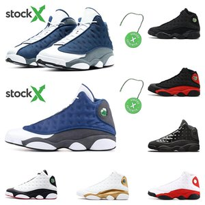 2020 New arrivel 13s Flint basketball shoes mens trainers Stock X black cat Bred DMP Top quality He got game sports sneakers fashion