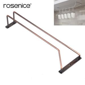35cm Bronze Stemware Wine Rack Holder Sous Cabinet Shelf Verre à vin Hanger Rangement suspendu Rail pour Bar ou la cuisine