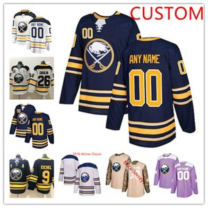 Personalizzato Buffalo Sabres Jersey Jack Rasmus Eichel Dahlin Jeff Skinner Zach Bogosian Casey Nelson Kyle Okposo Tage Thompson Sabres Jersey