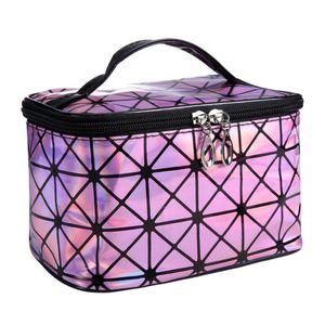 Diseñador Esteticista Necessaire grandes casos cosméticos de belleza de la bolsa en la vanidad del maquillaje de la caja de bolsa de viaje Higiene Lavar la bolsa para la Mujer