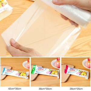 100pcs portátil Cozinha Transparente Vest Saco Grande Tamanho 35 * 42cm Bolsas Saran Wrap plástico para casa Cozinha Storage Organizar
