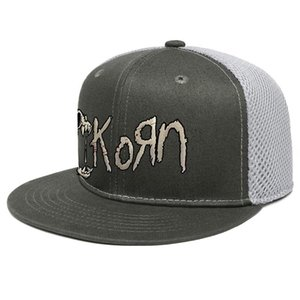 Korn Splatter do crânio Imagem Unisex Cap Trucker Brim Plano Sports Youth Baseball Hats KoRn Encontro logotipo Novo Metal Rock Band banda Korn boneca
