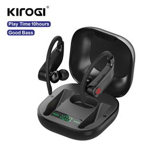Poder HBQ PRO TWS auriculares inalámbricos Bluetooth estéreo 5.0 earburds auriculares del deporte 950mAh gancho de oreja caso impermeable Auriculares Q62
