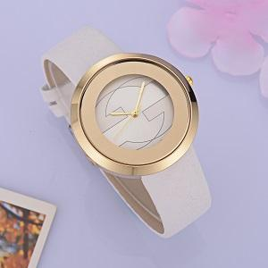 Relojes de las mujeres Relojes de lujo Marca de cuero Correa de acero Dial Dial vestido casual Reloj de pulsera Regalo empresarial para hombre relojes reloj