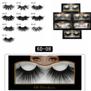 25mm 3D Cílios Postiços Natural Falso 3D Mink Cílios Extensão Dos Cílios Maquiagem Grande Dramático Faux Mink Cílios RRA1135