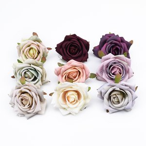 8CM Artificial plants scrapbooking roses head wedding flower wall decorative wreaths vases for home decoration fake flowers