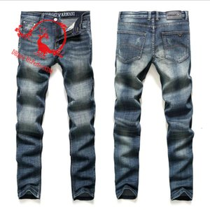 F041 AJ-KOT 2020 İlkbahar Yaz Pantolon Stretch kot pamuk pantolon pantolon düz iş olağan biçimde yıkanmış Erkekler pantolon pant