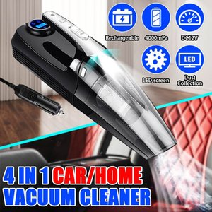 4000mPa 4 in 1 Car Handheld Vacuum Cleaner Digital Tire Inflator Pump Pressure Gauge LED Light Vacuum Cleaner For Home Auto