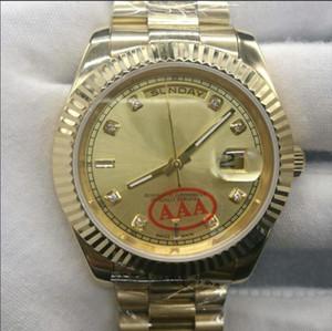 2019 nouvelle haute qualité en gros montre jour jour date glisse mécanique lisse 40 MM mens royal oaks montre en acier inoxydable lunette bracelet montres