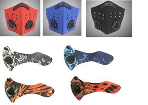 Многоразовый езда маска Велоспорт маска пыленепроницаемом ветрозащитный Anti-туман Активированный уголь респираторы клапан с фильтром XHH7-1388