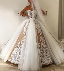 Elegante Hübsche Spitze Brautkleider 2020 Appliques Puffy Ballkleider Weg Von Der Schulter Brautkleider Vestido De Noiva