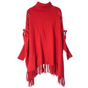 2018 Новый Шаблон Ранней Осенью Нежный Ветер Высокий Свинец Ленивый Ветер Свитер Женщина Пуловер Плащ Свободные Пальто