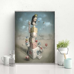 Beautiful Nightmares Nicoletta Ceccoli Art Canvas Painting Wall Picture Poster And Print Decorative For Living Room Home Decor