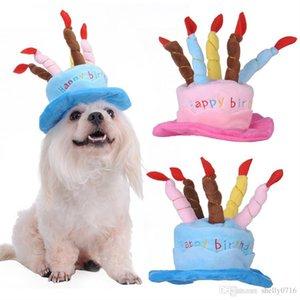 Cute Pets Dog Gatti Compleanno Cappellini Corduroy regolabile colorato Candele Small / Medium cappello cane Puppy Gatti Cosplay Copricapo